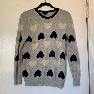 Jcrew Medium Heart Sweater
